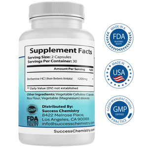 Success Chemistry Berberine supplement Berberine supplement - Aid in weight loss & blood sugar management
