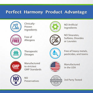 Success Chemistry stress relief PERFECT HARMONY ~ Stress Relief Formula for Women. Anti Anxiety and Panic Aid