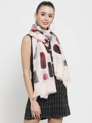Women Pink Printed  Regular Fit Stole