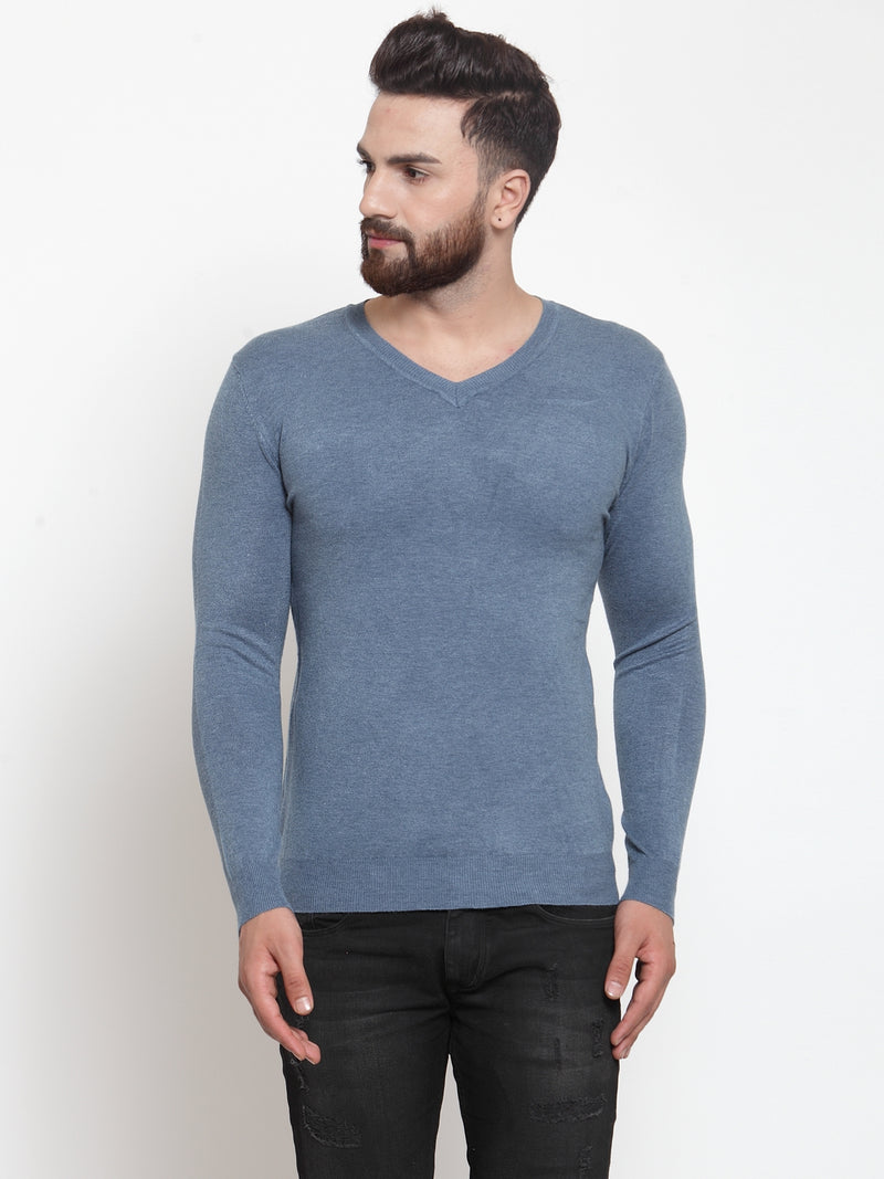 Mens Denim Solid Pullover