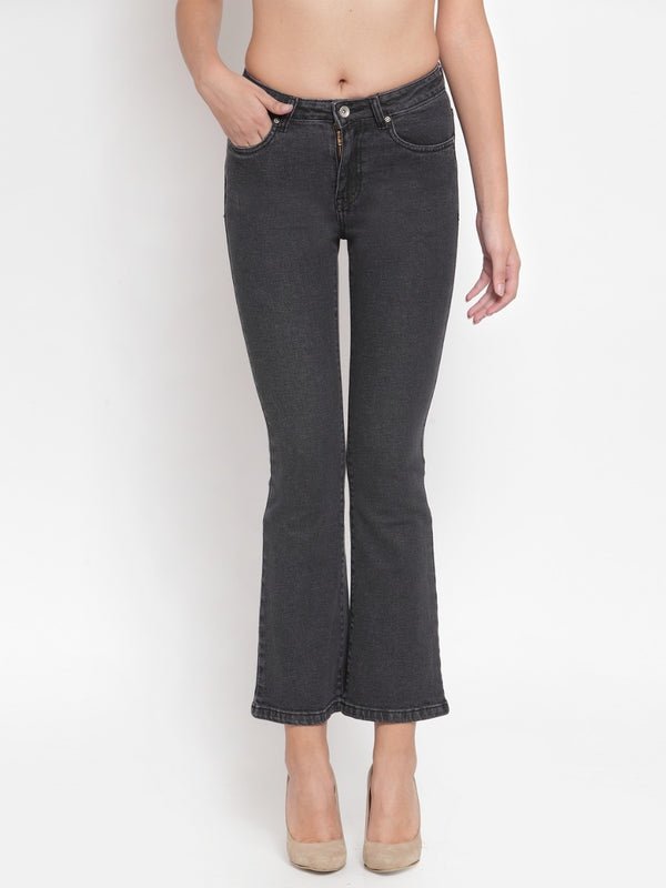 Women Black Denim Bootcut Jeans