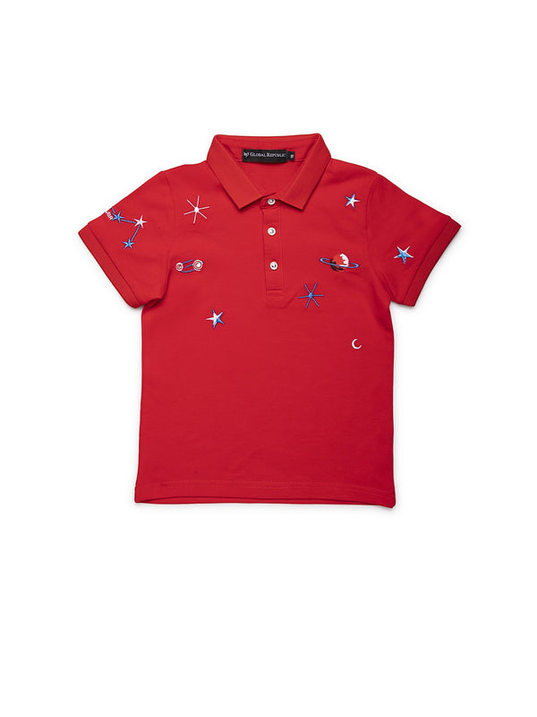 Infants Red Cotton T-Shirt