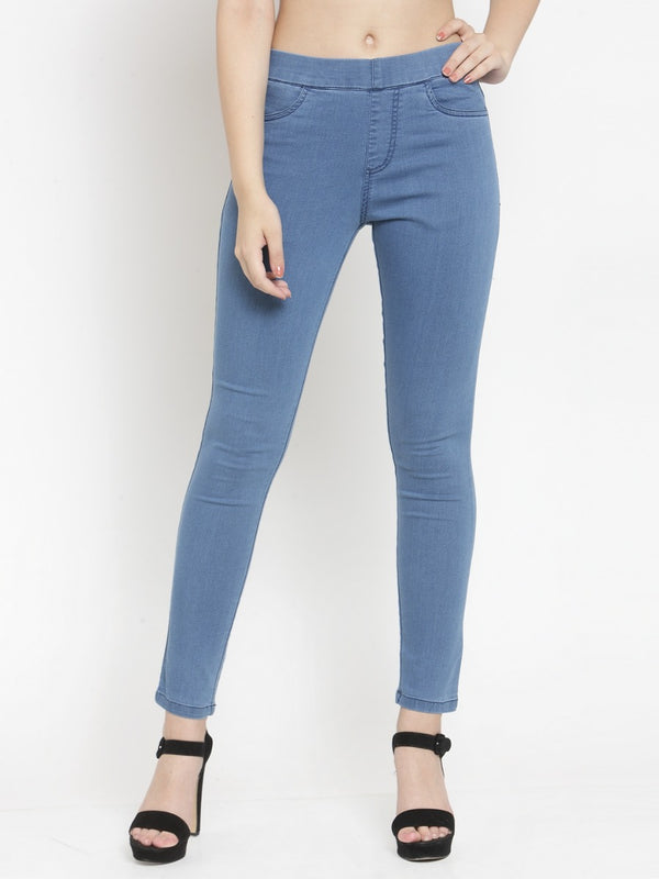 Women Blue Jegging