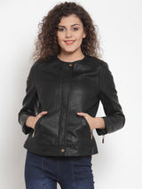 Women Black Full Sleeve Jackets