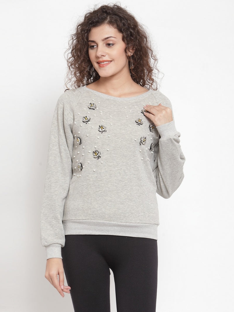 Women Grey Sweat Shirt