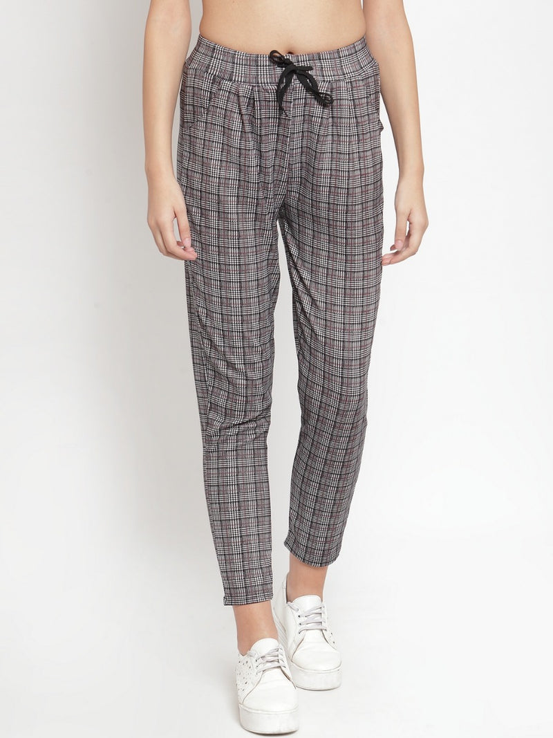 Women Checked Black Lower