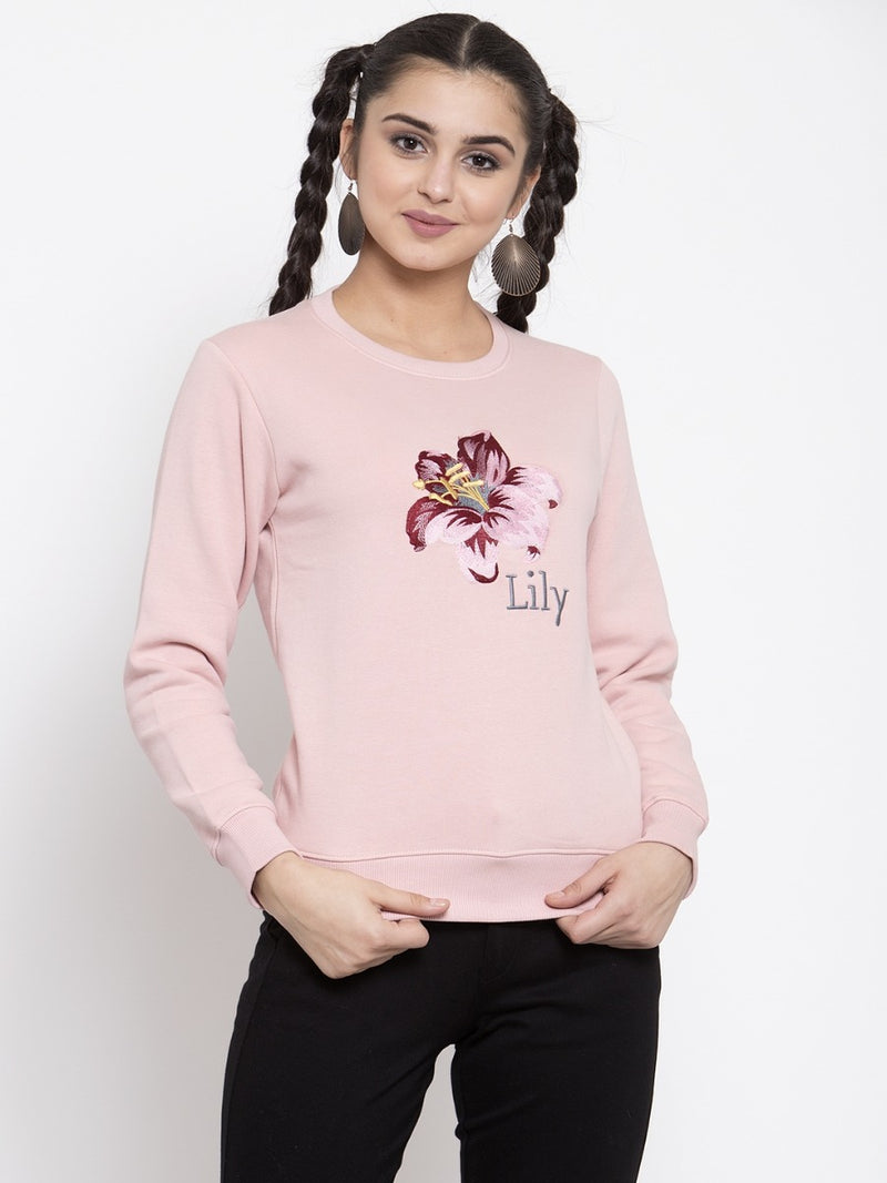 Women Pink Sweat Shirt