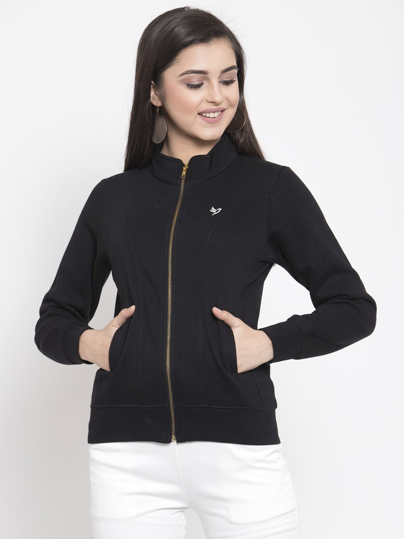 Women Black Sweat Shirt