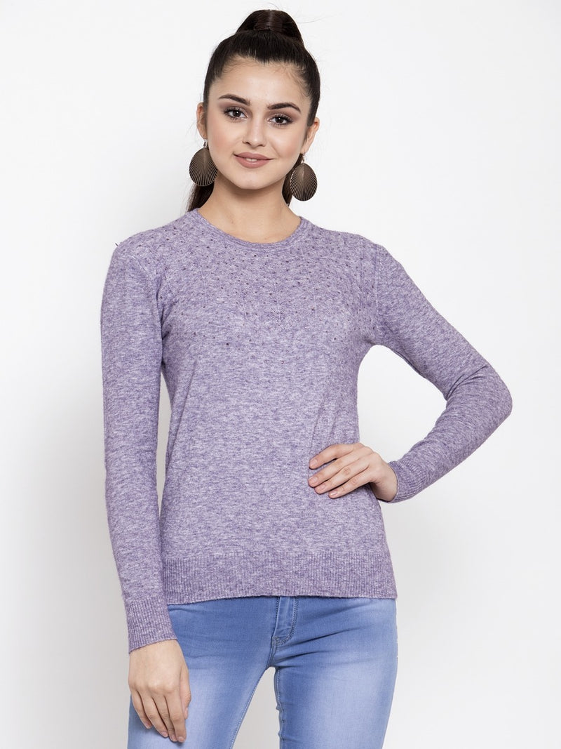 Women Purple Pullover