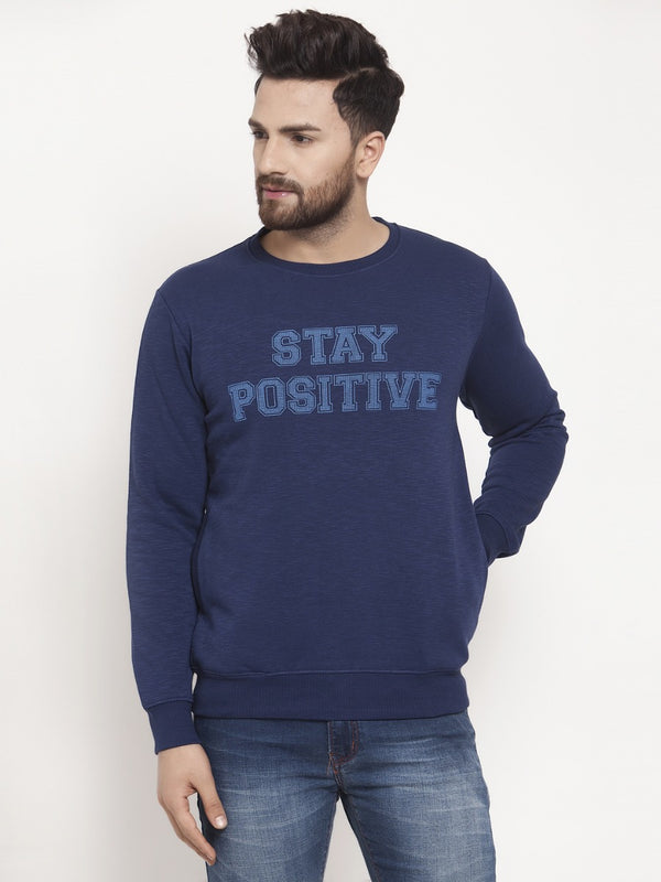 Mens Navy Sweat Shirt