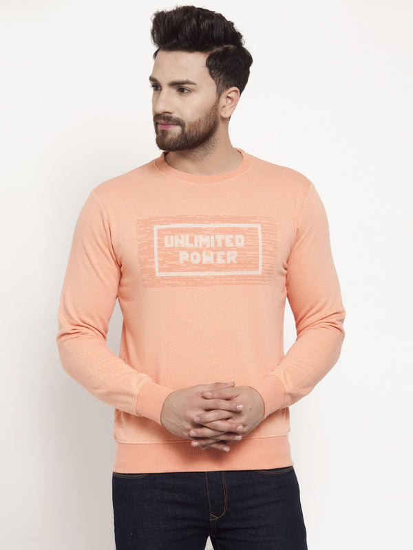 Mens Orange Sweat Shirt