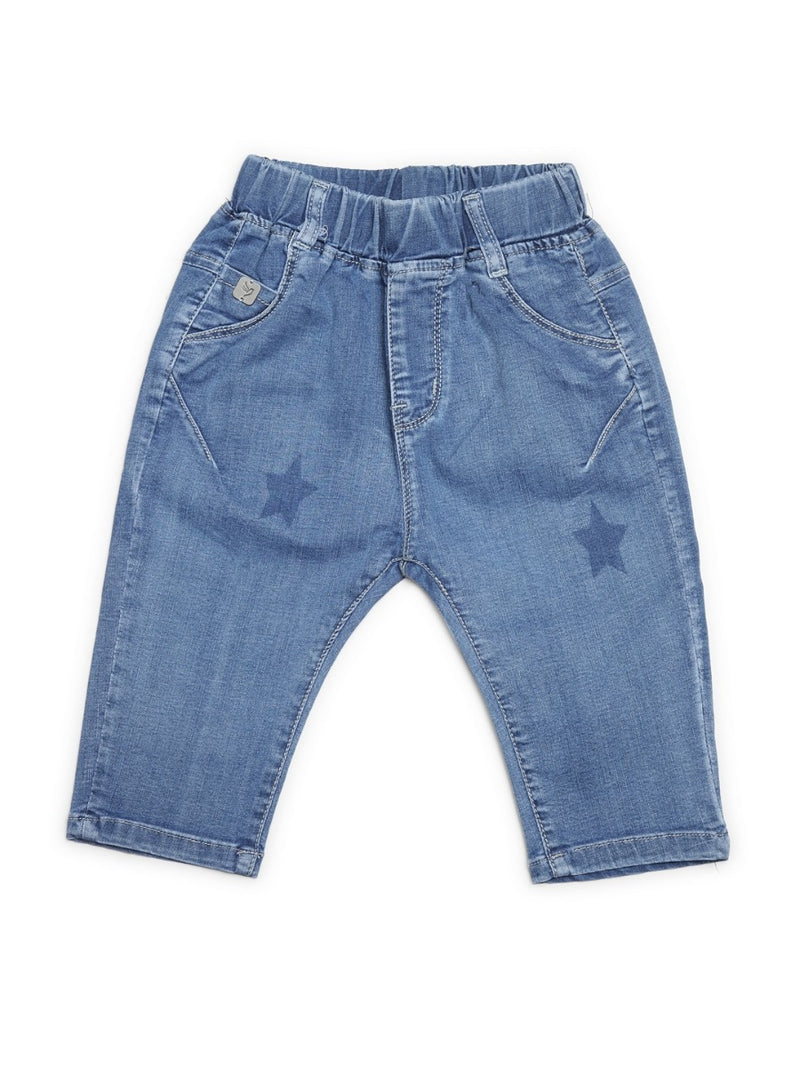 Kids Blue Denim Capri