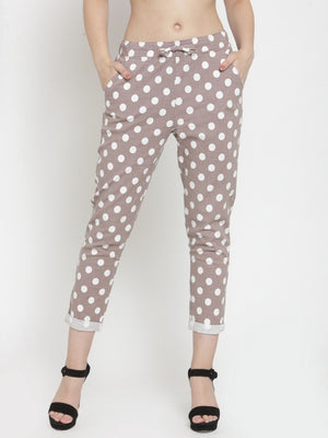 Women Pink Polka Lower