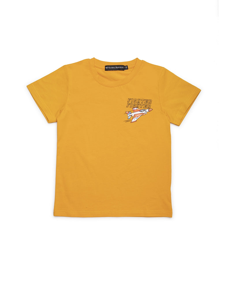 Infants Mustard Cotton T-Shirt