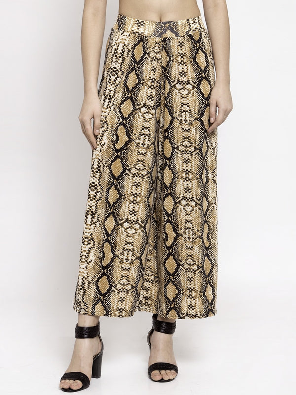 Women Snake Printed Polycotton Plazo