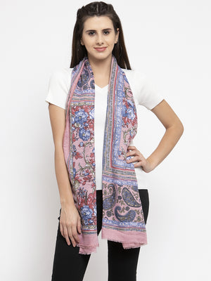 Women Printed Rust Polyester Stole