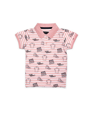 Infants Pink Cotton T-Shirt
