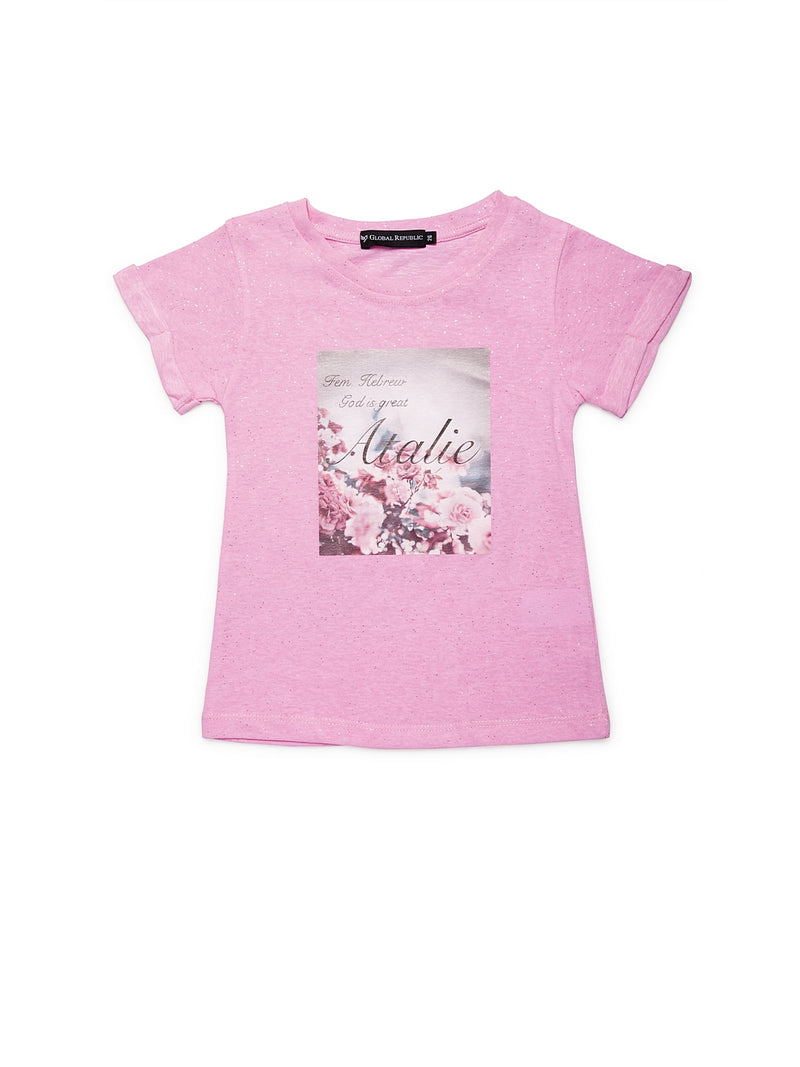 Girls Pink Polycotton Top