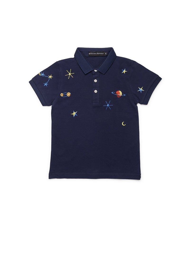 Infants Navy Blue Cotton T-Shirt