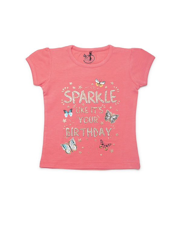Girls Pink Cotton Top