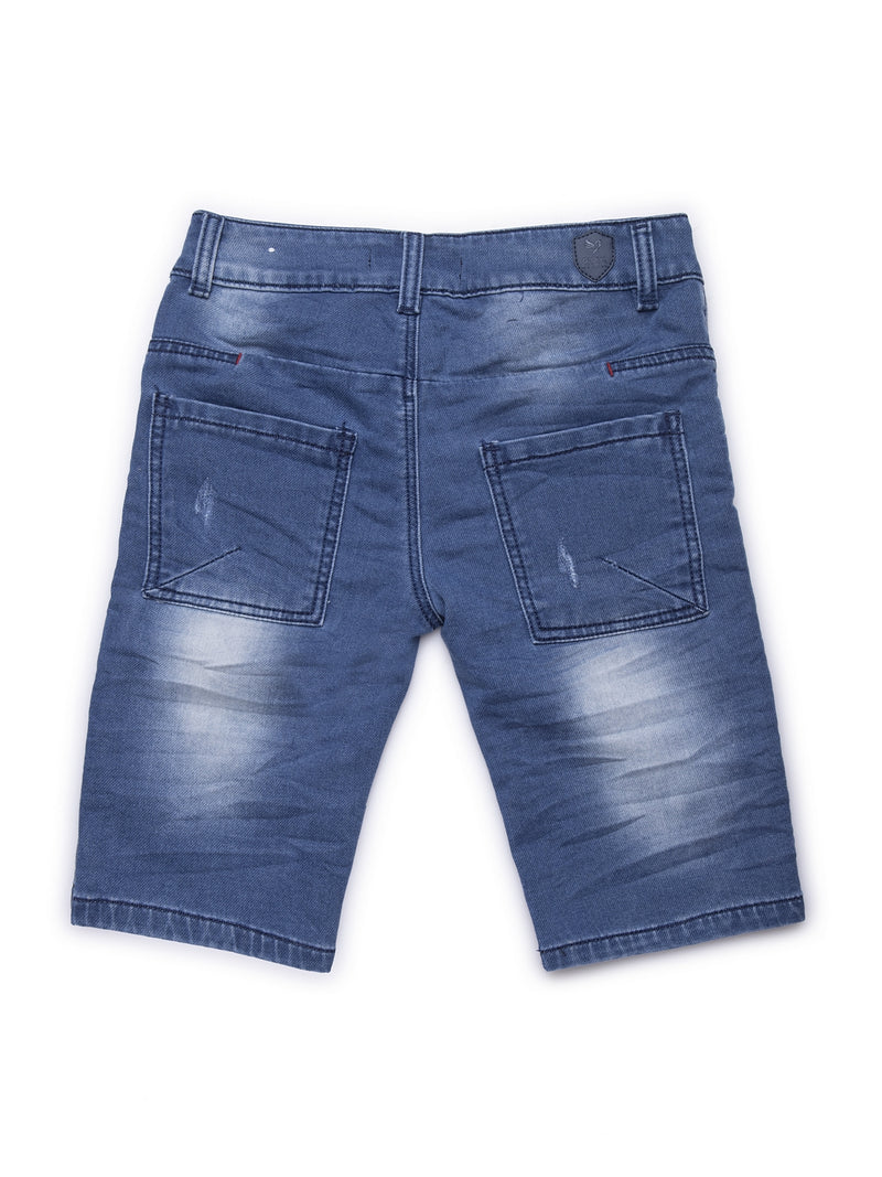 Kids Denim Shorts With Rip Detail