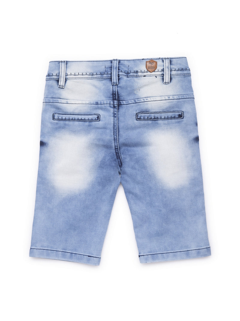 Kids Blue Washed Denim Shorts