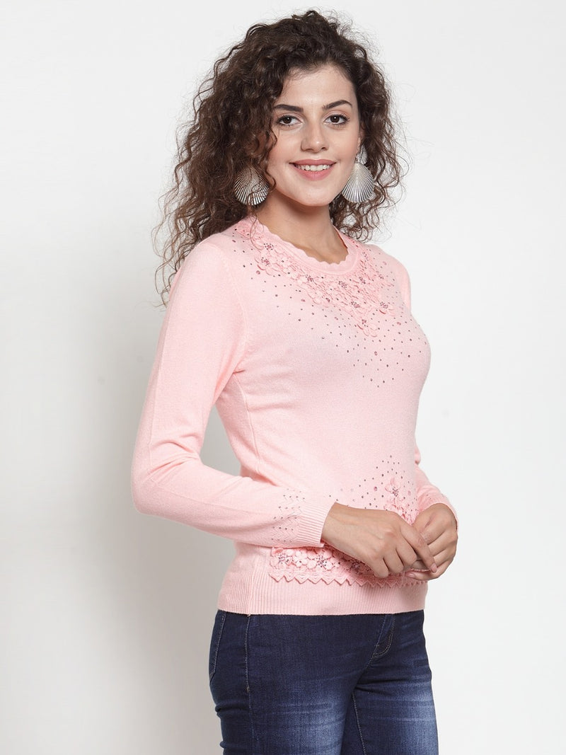Women Pink Solid Open Front Shrug