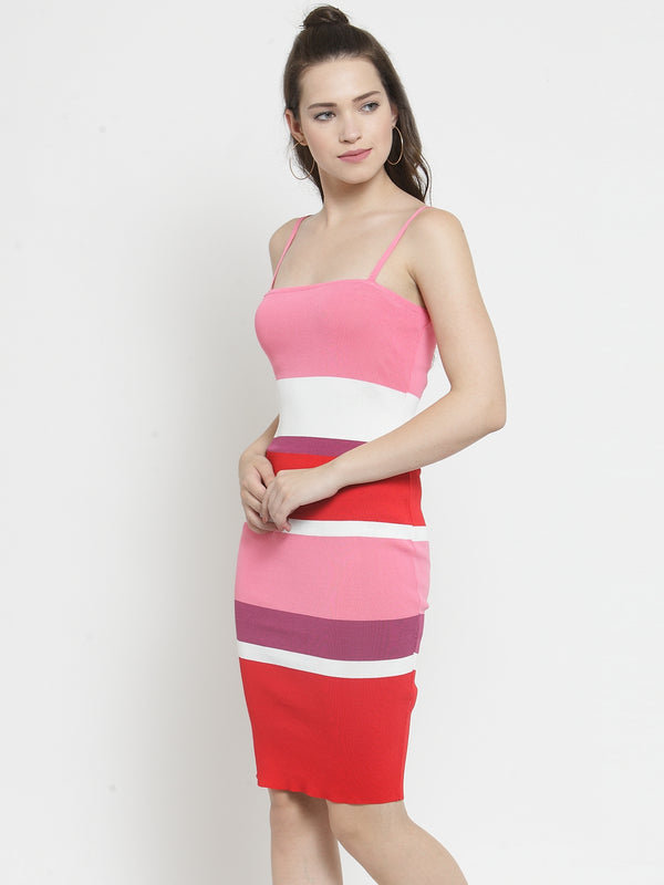 Women Pink Slim Fit Dress