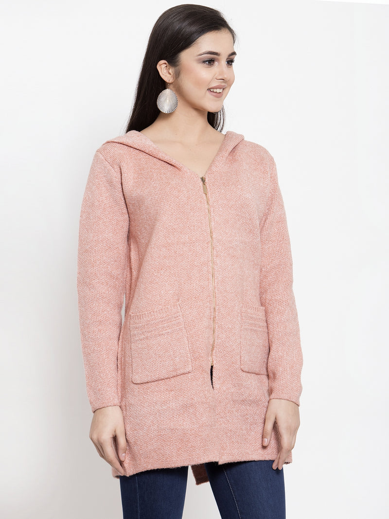 Women Pink Winter Coat