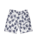 Boys White Cotton Linen Shorts
