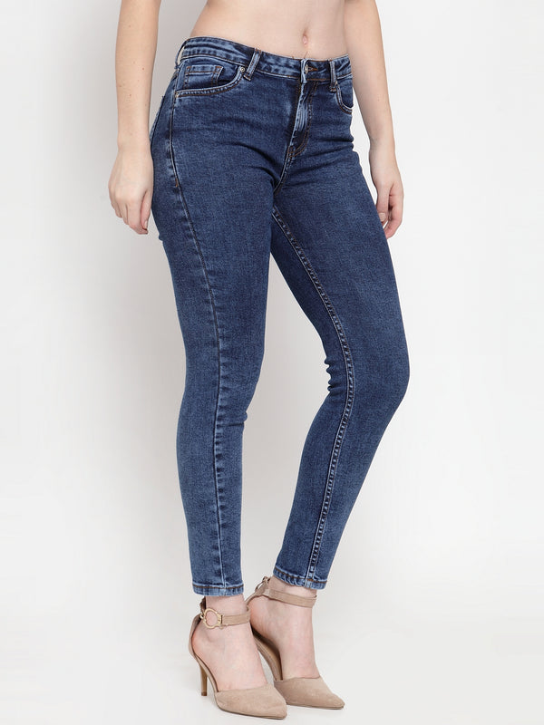 Women Blue Straight Fitted Jeans
