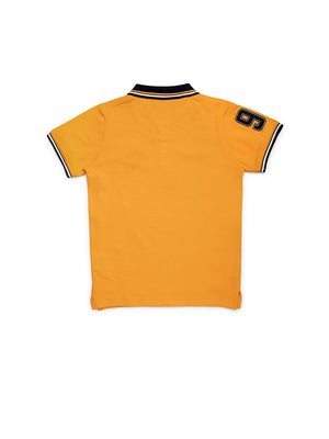 Boys Yellow Cotton T-Shirt