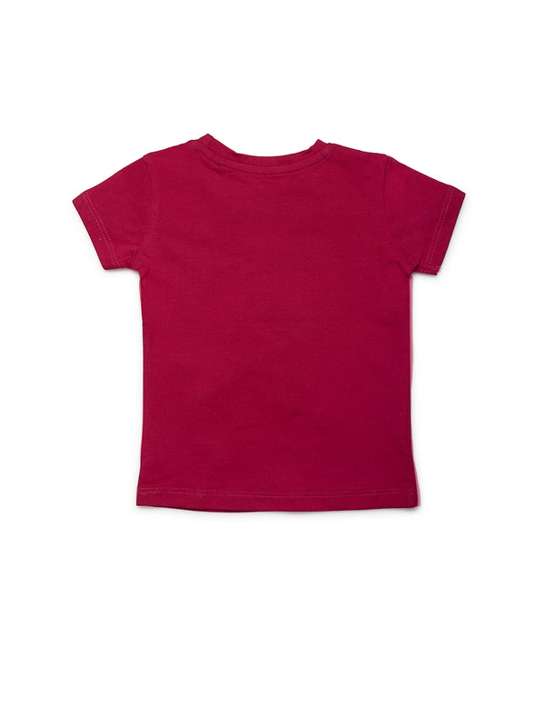 Infants Maroon Cotton Top