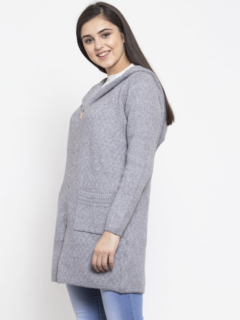 Women Grey Winter Coat