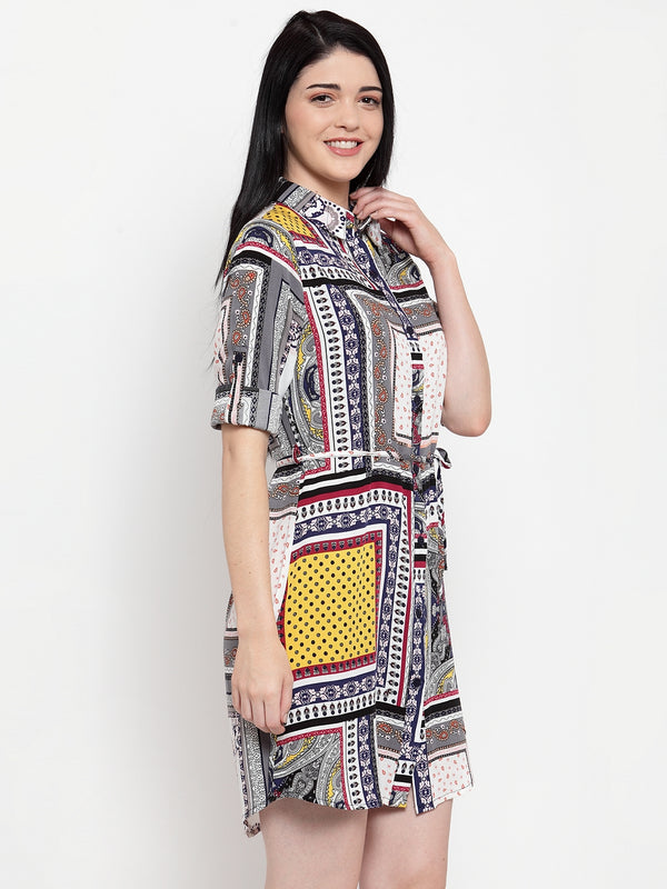 Women Multicolor Cotton Printed Tunic