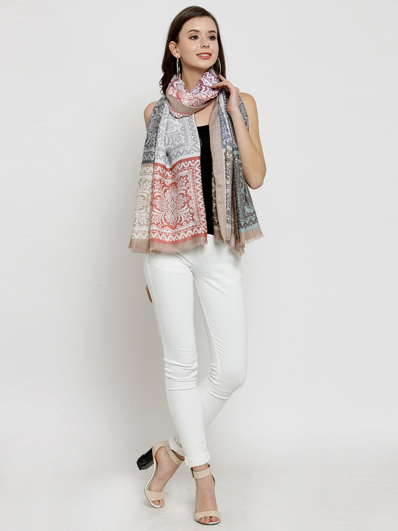 Women Multicoloured  Printed Stole