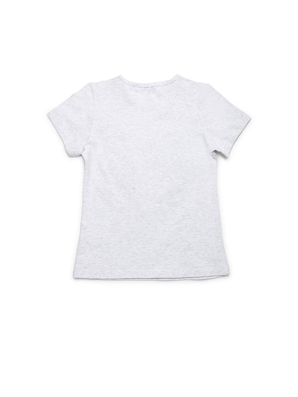 Girls Grey Cotton Top