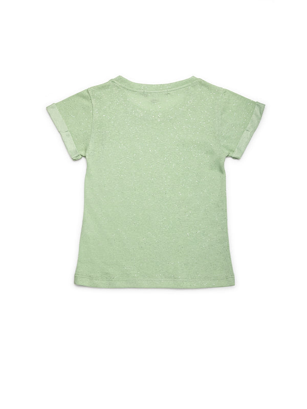 Girls Green Polycotton Top