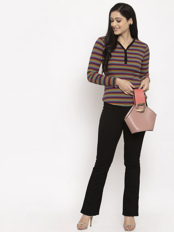 Women Multi Striped Tops