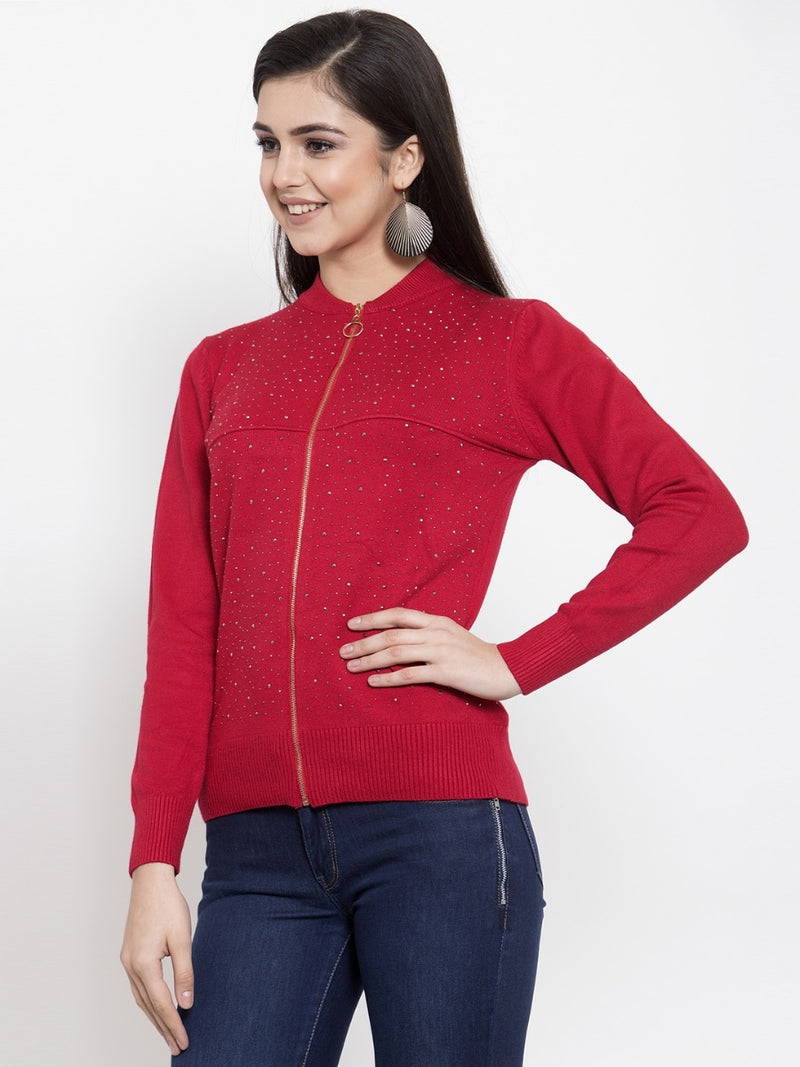 Women Red Pullover