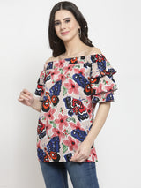 Women Multicolor Polyester Top