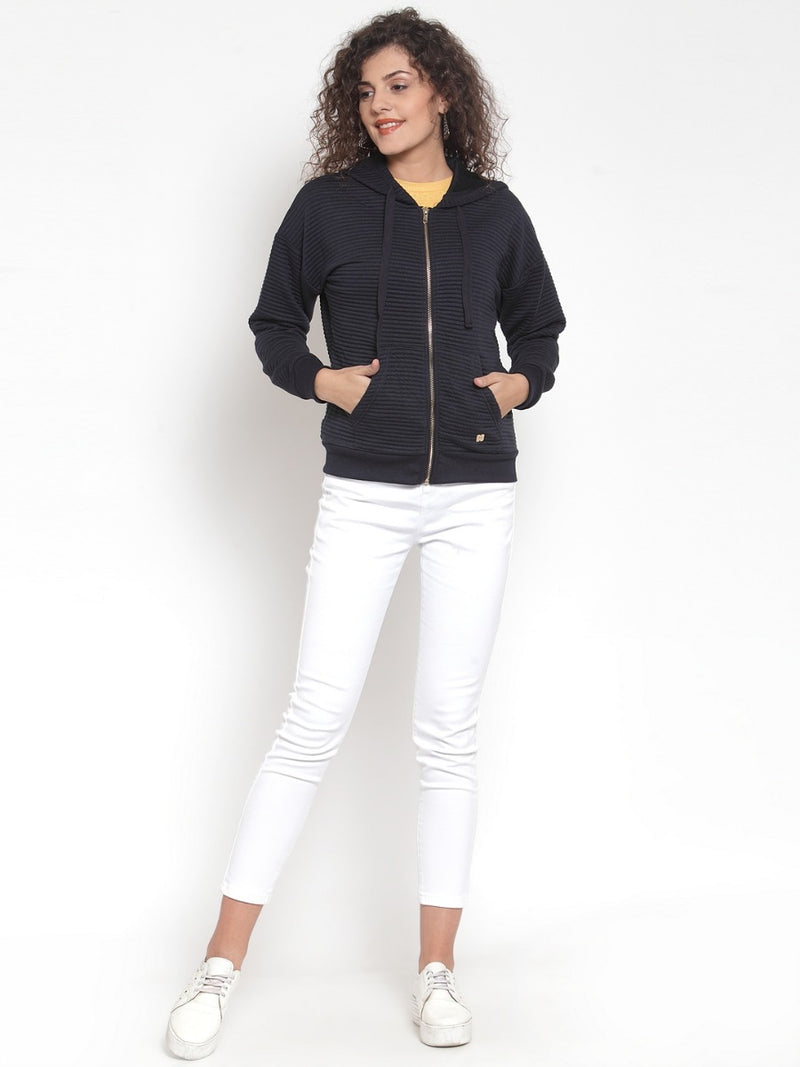 Women Navy Sweat Shirt