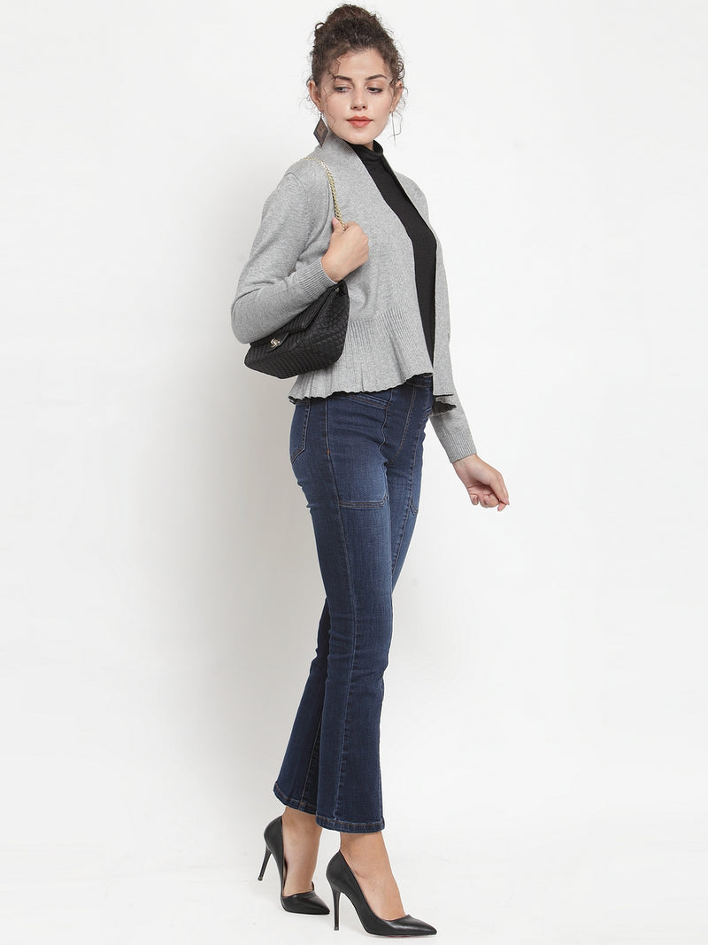 Women Grey Shrug