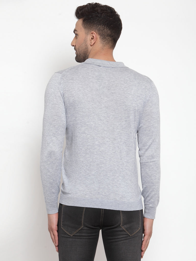 Mens Blue Knit Pullover