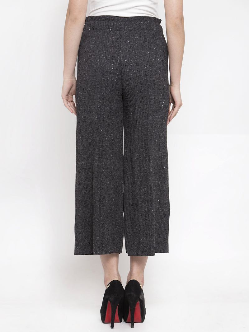Women Drawstrings Grey Relaxed Fit Lower