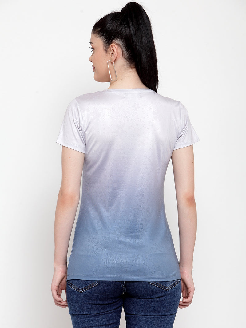 Women White Polyester Printed Top