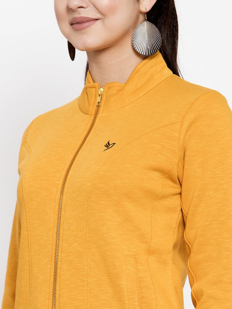 Women Mustard Sweat Shirt