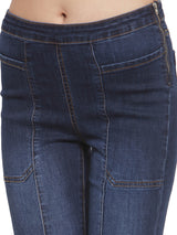 Women Blue Denim Bootcut Jeans