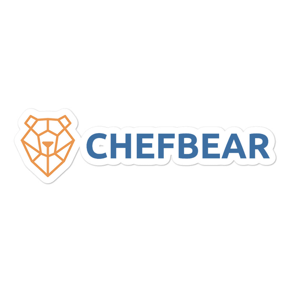 ChefBear Bubble-free stickers