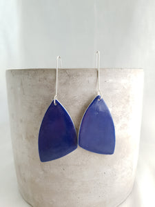 electric blue | asymmetrical triangle | large | earrings
